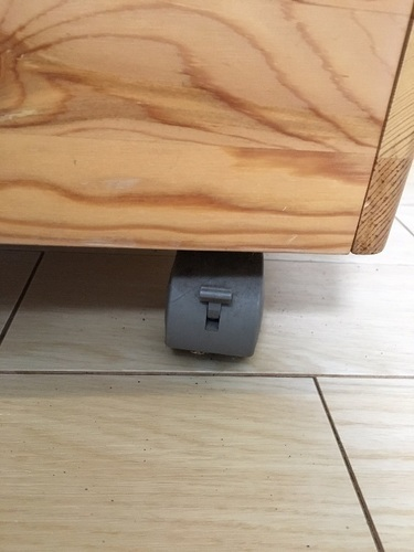 キャスター付きパイン材収納ボックス(無印良品) - 名古屋市