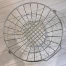 【美品】無印良品 ステンレスランドリーバスケット・小 - 家具