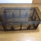 ラタン ガラストップ ローテーブル無料
