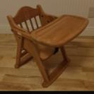 木製 折り畳み ベビーローチェア