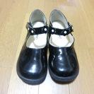 エナメル子供靴(女の子) 黒 20cm 卒園式・入学式に!