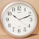 リズム時計工業 DAILY QUARTZ シンプル壁掛け時計◆シ...