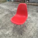 中古 サイドシェルチェアー イームズ風 レッド ■椅子/家具