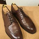 本格革靴 茶色 革底 サイズ8(スニーカーだと26-27くらい?)