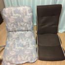 座椅子2点セット(一点ニトリの座椅...