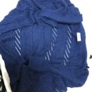 AZUL の明るめ紺色のカーディガン