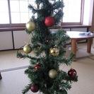 クリスマスツリー LED電飾・飾り付き 差し上げます