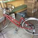 赤い自転車 26インチ他折りたたみ自転車も有ります