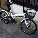 折り畳み自転車 白