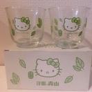 【キティちゃんグッズ】洋服の青山ノベルティ  グラス