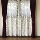 サンゲツ 遮光カーテン④幅146×2枚  (レースなし)