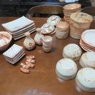 未使用陶器食器・鉢・お重・酒器等多数 松竹梅模様のセット品