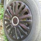 カーバ付でホイール鉄タイヤ付で、13インチ軽四に‼