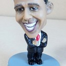 オバマ元大統領 OBAMA ボブルヘッドフィギュア 置物◆首振り...