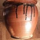 ■懐かしの陶器コレクション★甕/かめ/壺◆物入れ容器★高19cm3...