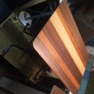 アウトレット 『 昇降式の天然木ダイニングテーブル 』高さ調整自由