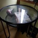 硝子丸テーブル