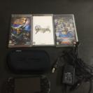 PSP1000本体+ケース+ソフト3枚