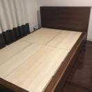無印良品 セミダブル収納ベッド+ヘッドボードの画像