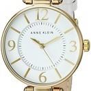 【新品未使用】アン・クライン女子腕時計 / ゴールド&ホワイト