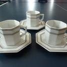 Adam & Eve コーヒーカップ 八角形 中古 3客