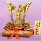 五月人形兜(かぶと)飾り 瑞鳥作 花王兜ST 座布団 木札付o24-2