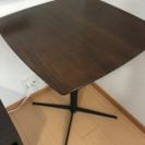 ハイテーブル 茶色