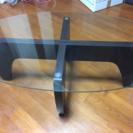 【値下げ】ガラスのローテーブル