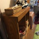木製手作り棚、仕分けゴミ箱や収納棚として - さいたま市
