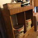 木製手作り棚、仕分けゴミ箱や収納棚として - 家具