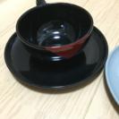 マグカップ、受け皿2セット