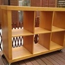 MUJI/無印良品北欧 チェリー材 オープンシェルフ 3列2段ラック 本棚 飾り棚 サイドボード 無印良品 - 豊能郡