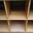 MUJI/無印良品北欧 チェリー材 オープンシェルフ 3列2段ラック 本棚 飾り棚 サイドボード 無印良品 - 家具