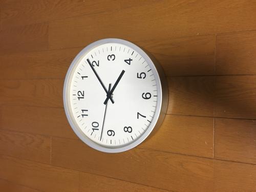 無印 掛け時計の画像