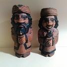 アイヌの置物(ニポポ人形) 木彫りの人形 民芸品 2体ペア