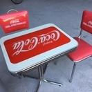 コカ・コーラ 非売品 テーブル&椅子セット 中古品