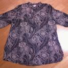 女性用LLサイズ五分袖シースルーシャツ