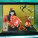 寿宝作 花車 日本人形