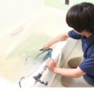 お風呂の配管を洗浄しています