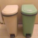 ★ペダル式 ゴミ箱★ ベージュ・ライトグリーン 2個