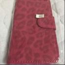 スマホケース iPhone6用ヒョウ柄 ピンク