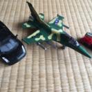 美品  スポーツカー、戦闘機、トミカはしご車