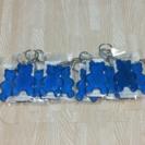 反射板付きキーホルダー(ブルー)10個セット