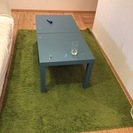 IKEAラグ グリーン