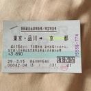 【20170415まで】東京→京都新幹線乗車券1枚