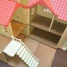 シルバニアファミリー あかりの灯る大きな家&人形&小物類