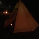 桃太郎公園でキャンプ
