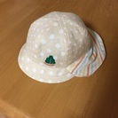 【取引終了】子供用帽子(あごひも、日よけ付)