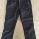 【美品・中古】七分丈パンツ M ネイビー×パープル