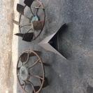 鉄製の入田用の車輪とパーツ あげます 引き取り優先